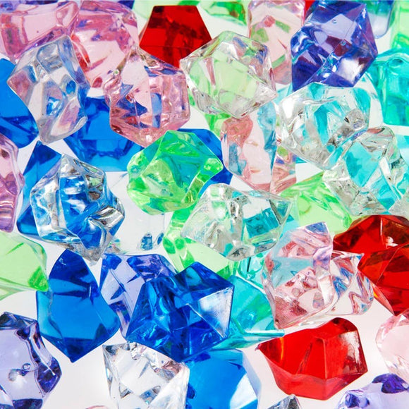 Mixed Acrylic Gems, 1lb bag (Asorted Colors) - ifloral.com