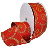 #7465 Gilded Linen (wired) Ribbon - ifloral.com