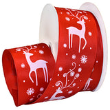 #7475 Snow Deer (wired) Ribbon - ifloral.com
