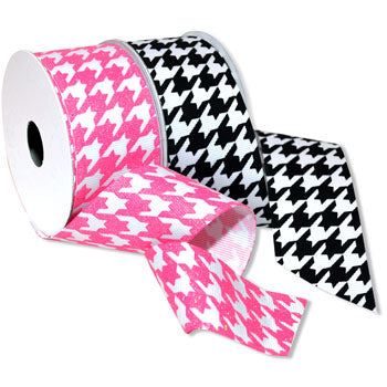 #7509 Hounds Tooth (grosgrain) Ribbon - ifloral.com