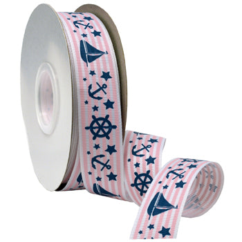 #7511 Nautical Baby (grosgrain) Ribbon - ifloral.com