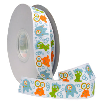 #7542 Glitter Monsters (grosgrain) Ribbon - ifloral.com