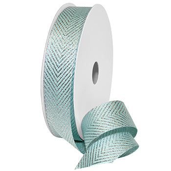 #7604 Herringbone Metallic Ribbon - ifloral.com