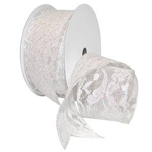 #7605 Sabrina (wired & glittered) Ribbon - ifloral.com
