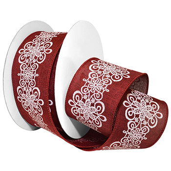 #7609 Lascala Lace (wired) Ribbon - ifloral.com