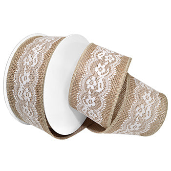 #7663 Seville Lace (wired) Ribbon - ifloral.com