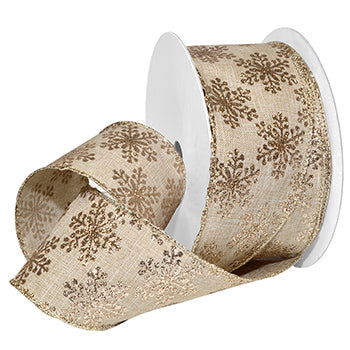 #7719 Linen Frost (wired) Ribbon - ifloral.com