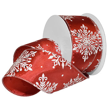 #7722 Nordic Flakes (wired) Ribbon - ifloral.com