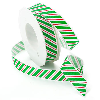 #806 Candy Cane Stripes Ribbon - ifloral.com