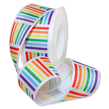#8650 Rainbow Geo Ribbon - ifloral.com