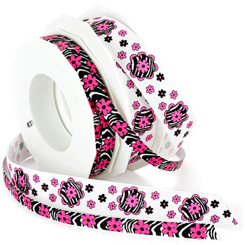 #973 Zebra Flower Ribbon - ifloral.com