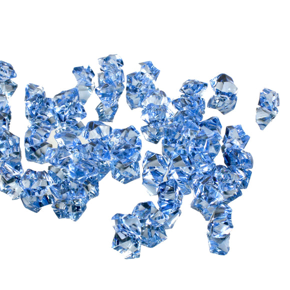 Light blue acrylic vase filler gems, 1lb Bag - ifloral.com