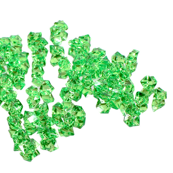 Green acrylic vase filler gems, 1lb Bag - ifloral.com