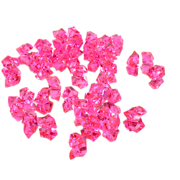 Hot Pink acrylic vase filler gems, 1lb Bag - ifloral.com
