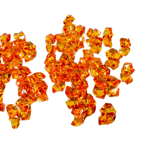 Orange acrylic vase filler gems, 1lb Bag - ifloral.com