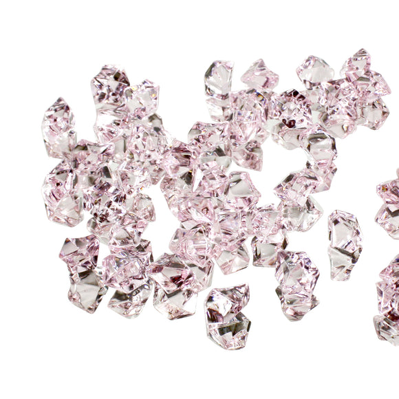 Light Pink acrylic vase filler gems, 1lb Bag - ifloral.com
