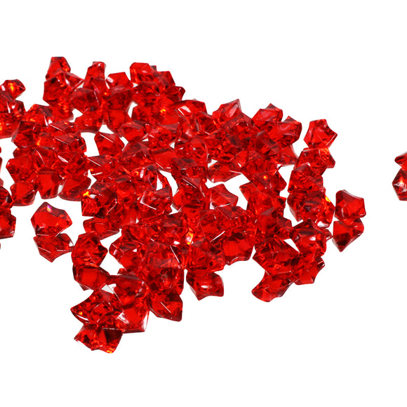 Red acrylic vase filler gems, 1lb Bag - ifloral.com