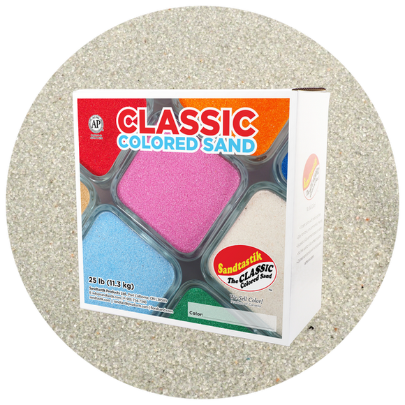Classic Colored Sand, Grey, 25 lb (11.3 kg) Box