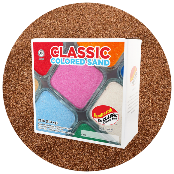 Classic Colored Sand, Brown, 25 lb (11.3 kg) Box