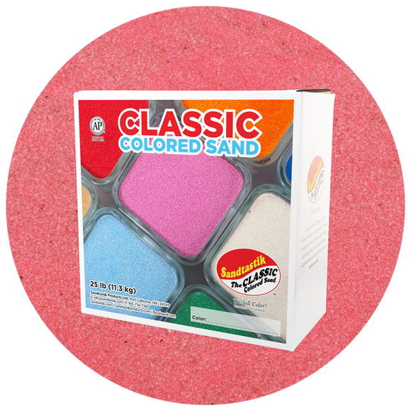 Classic Colored Sand, Pink, 25 lb (11.3 kg) Box