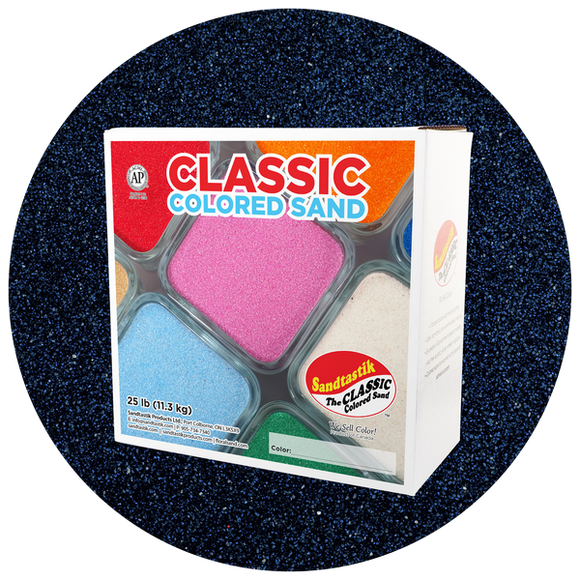 Classic Colored Sand, Navy Blue, 25 lb (11.3 kg) Box