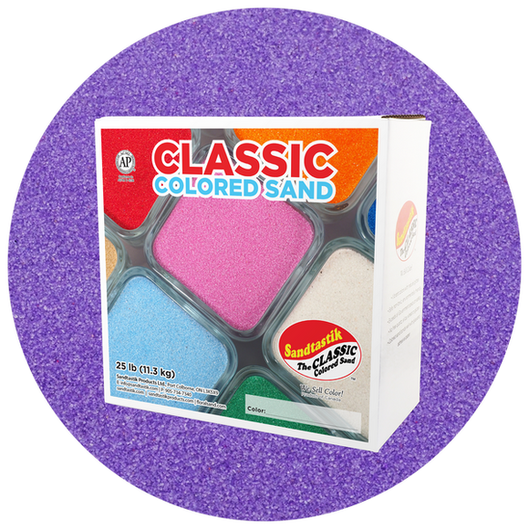 Classic Colored Sand, Ultraviolet, 25 lb (11.3 kg) Box