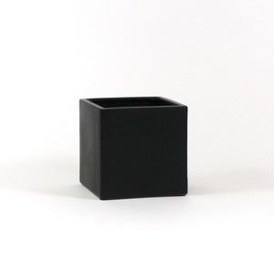 "Black Square Cube - Open: 6.5""x6.5"", Height: 6"" (Fits 6"" Pot)"