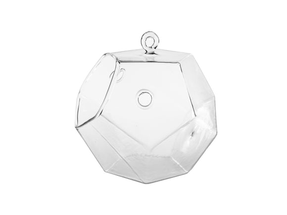 Frameless Geometric Glass Terrarium - Dim: 5.5