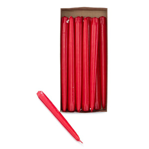 "10"" Red Taper Candles (Pack of 12) - ifloral.com"
