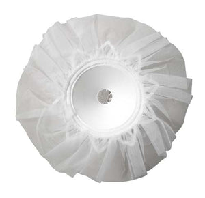 "6"" LOMEY® Bouquet Collar, White Tulle, 48/case - ifloral.com"