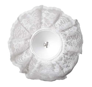 "9"" LOMEY® Bouquet Collar, White Lace, 6 pack - ifloral.com"