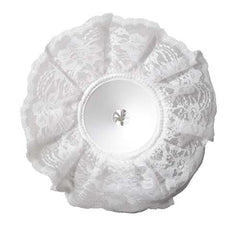 "10"" LOMEY® Bouquet Collar, White Lace, 6 pack - ifloral.com"