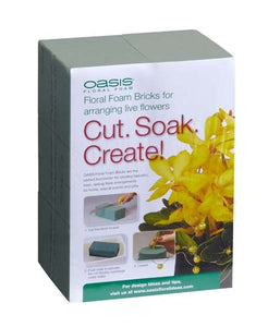 OASIS® Floral Foam Brick, 2 pack, 36/case - ifloral.com
