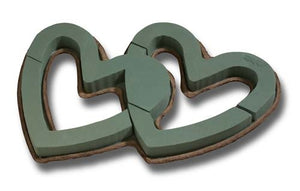 OASIS® Mache Double Open Heart, 4/case - ifloral.com