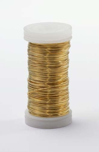 OASIS™ Metallic Wire, Gold, 18/case - ifloral.com