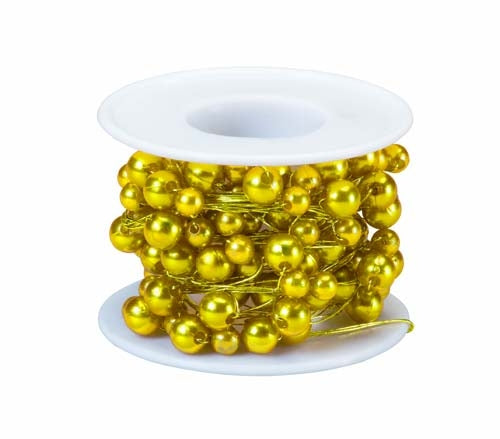 OASIS™ Beaded Wire, Yellow, 10/case - ifloral.com