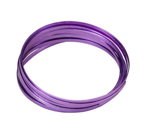 "3/16"" OASIS™ Flat Wire, Purple, 10/case - ifloral.com"
