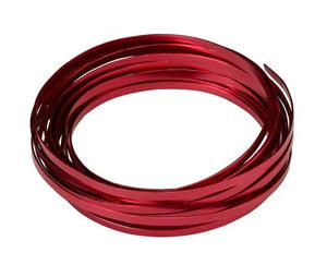 "3/16"" OASIS™ Flat Wire, Red, 1 pack - ifloral.com"