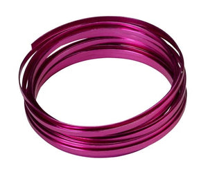 "3/16"" OASIS™ Flat Wire, Strong Pink, 1 pack - ifloral.com"