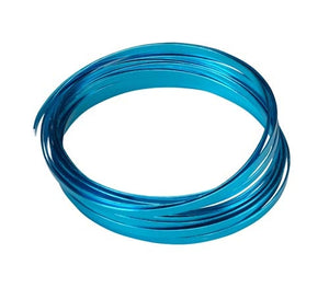 "3/16"" OASIS™ Flat Wire, Turquoise, 10/case - ifloral.com"