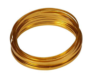 "3/16"" OASIS™ Flat Wire, Gold, 10/case - ifloral.com"