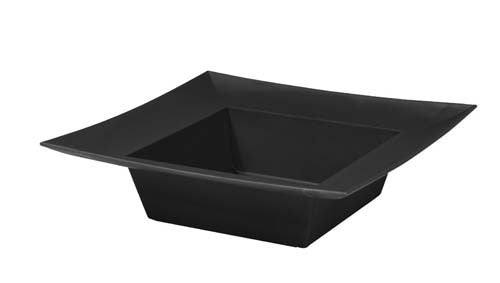 ESSENTIALS™ Square Bowl, Onyx, 24/case - ifloral.com