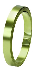 "1/2"" OASIS™ Flat Wire, Apple Green, 1 pack - ifloral.com"