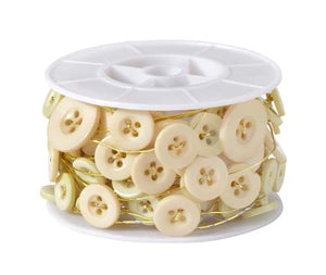 OASIS™ Button Wire, Ivory, 1 pack - ifloral.com