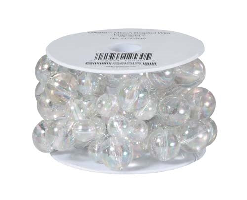 OASIS™ Mega Beaded Wire, Iridescent, 1 pack - ifloral.com
