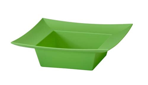 ESSENTIALS™ Square Bowl, Apple Green, 12 pack - ifloral.com
