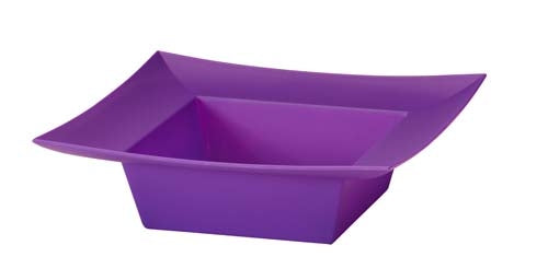 ESSENTIALS™ Square Bowl, Purple, 24/case - ifloral.com