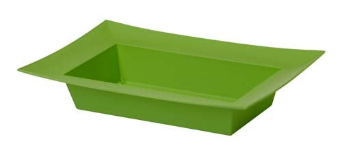 ESSENTIALS™ Rectangle Bowl, Apple Green, 24/case - ifloral.com