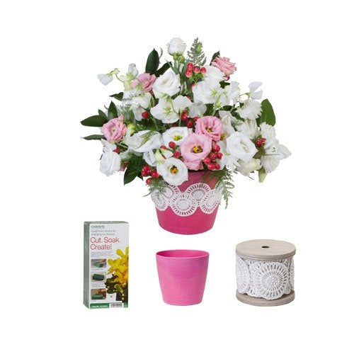 Cotton Lace Vase Kit - ifloral.com