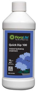 Floralife® Quick Dip 100 Instant hydrating treatment, 16 ounce, 16 oz. bottle - ifloral.com